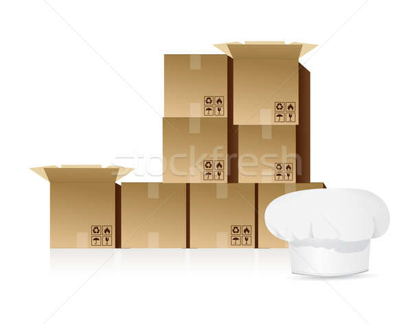 Shipping food concept  Stock photo © alexmillos