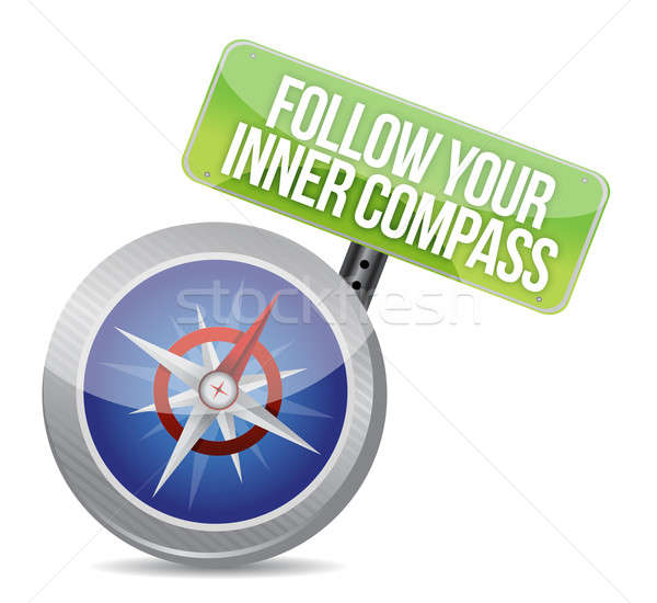 Follow Your Inner Compass success road  Stock photo © alexmillos