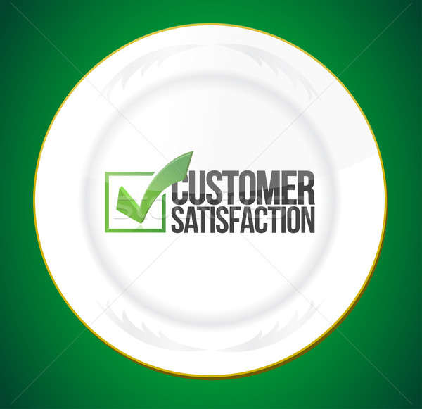 Food customer satisfaction guaranty  Stock photo © alexmillos