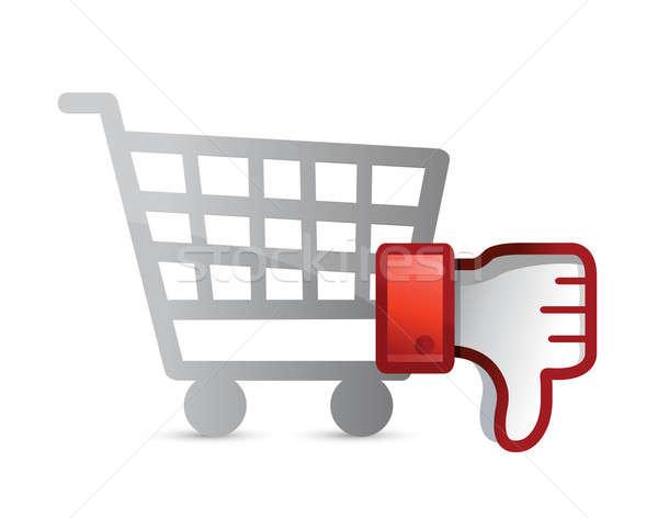 Alışveriş sevmemek başparmak aşağı Internet arka plan Stok fotoğraf © alexmillos