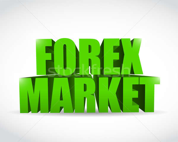 Forex marché texte 3d signe illustration design Photo stock © alexmillos