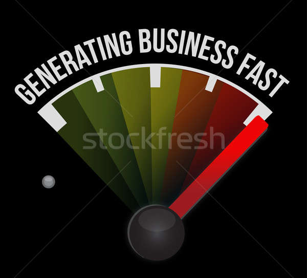 Generating business fast Stock photo © alexmillos