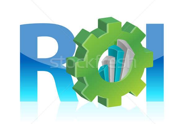 Powrót inwestycja działalności zielone niebieski przemysłowych Zdjęcia stock © alexmillos