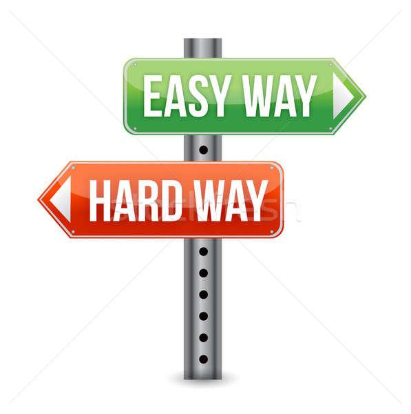 Easy way, hard way Stock photo © alexmillos