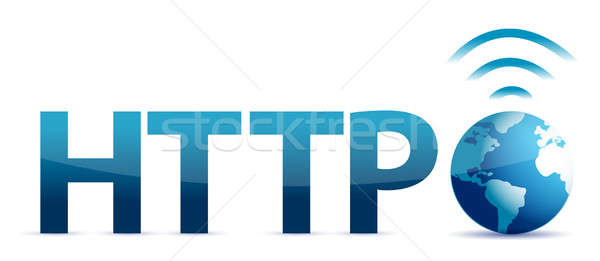 Http monde technologie réseau suivre communication Photo stock © alexmillos