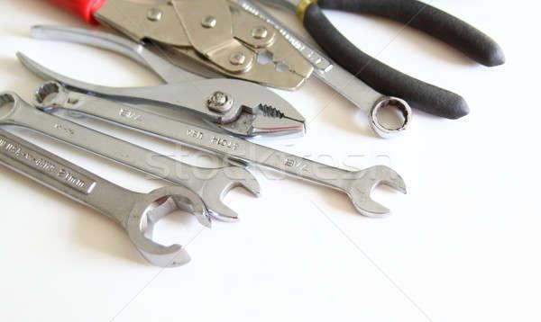 Mekanik araçları ayarlamak yalıtılmış beyaz inşaat Stok fotoğraf © alexmillos