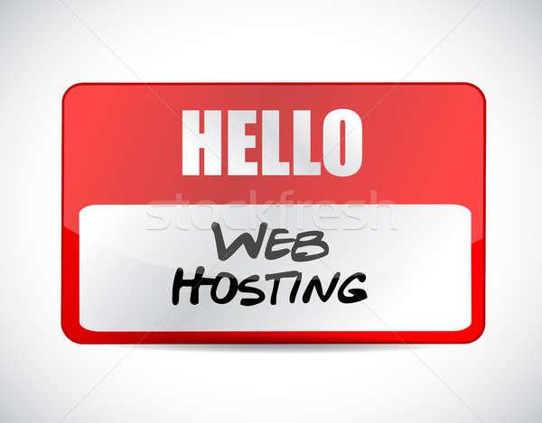 Web hosting imzalamak örnek grafik tasarım Stok fotoğraf © alexmillos