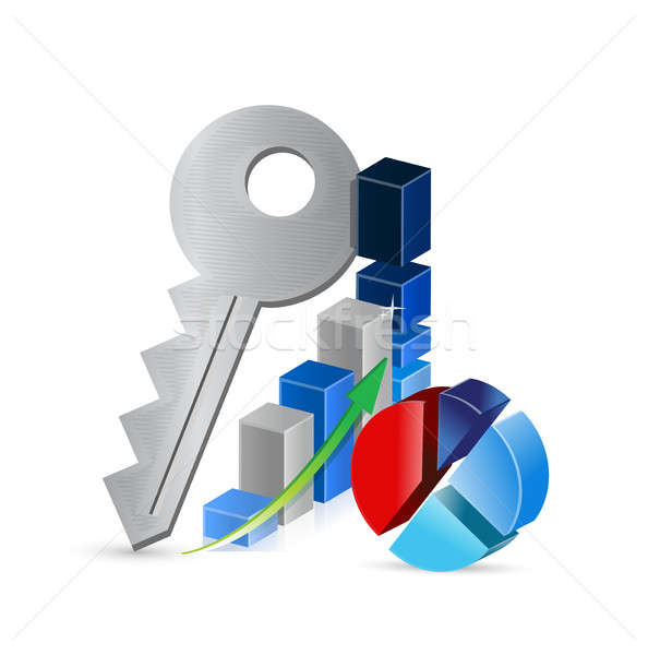keys to business profits concept illustration Stock photo © alexmillos
