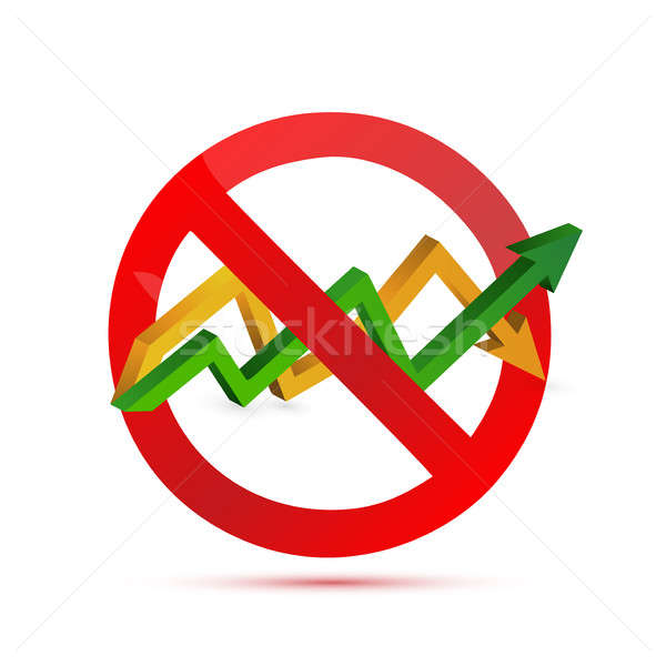negative sign over an up and down arrow graph Stock photo © alexmillos