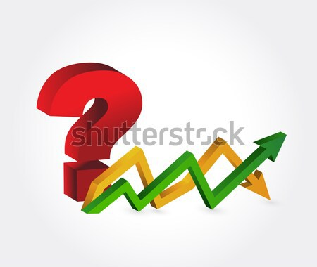 Euro profits. up and down arrow graph Stock photo © alexmillos