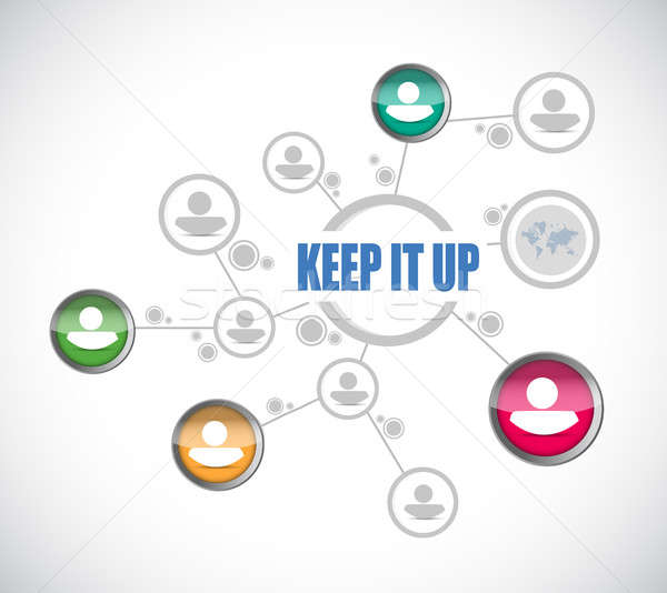 Keep it up people diagram sign concept Stock photo © alexmillos
