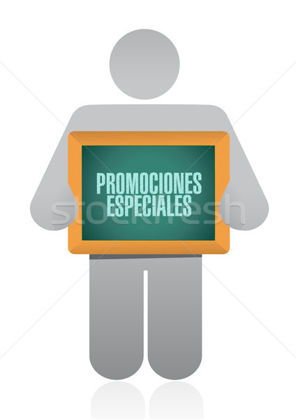 special promotions in Spanish sign concept Stock photo © alexmillos