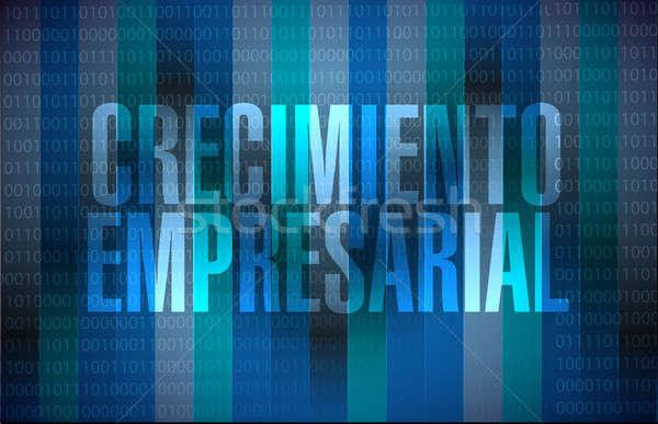 Negócio crescimento binário assinar espanhol ilustração Foto stock © alexmillos