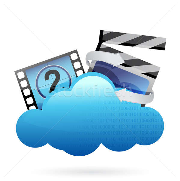 cloud with movie frame Stock photo © alexmillos