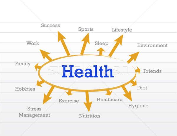 Health concept diagram Stock photo © alexmillos