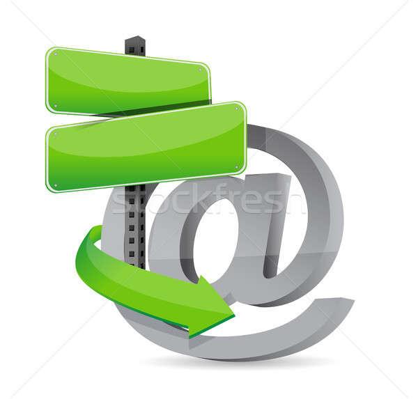 E mail empty sign ready for customization Stock photo © alexmillos