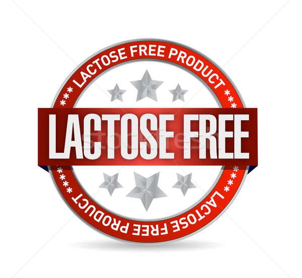 Lactose livre comida selar ilustração projeto Foto stock © alexmillos