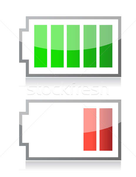 battery icons Stock photo © alexmillos