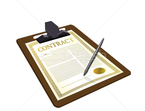 Foto stock: Contrato · pluma · ilustración · diseno · negocios · oficina