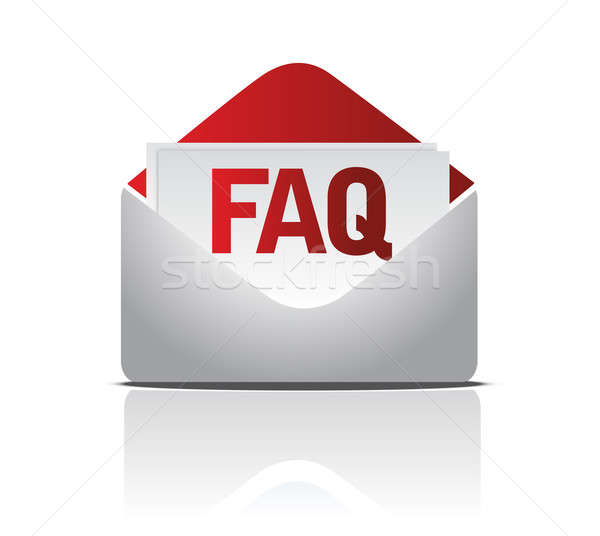faq envelope illustration isolated over a white background Stock photo © alexmillos