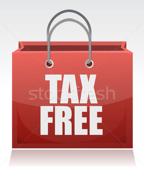 tax free shopping bag over a white background Stock photo © alexmillos