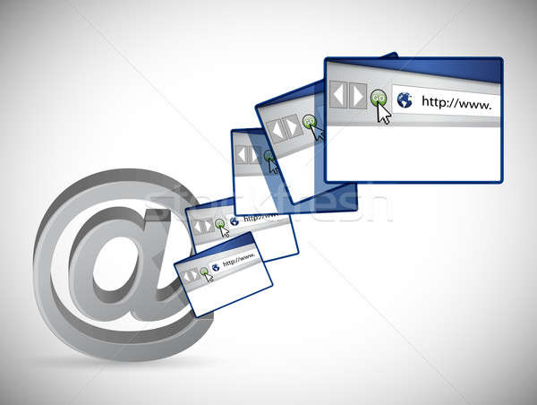 online browser pages concept illustration design over a white ba Stock photo © alexmillos