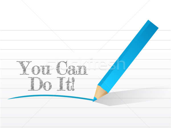 Stock photo: you can do it written on a white paper
