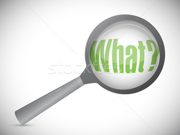 what magnifying glass. illustration design over white Stock photo © alexmillos