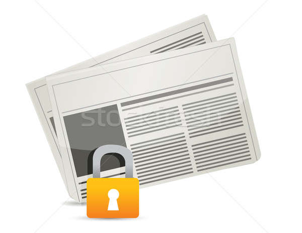 protected news illustration design over a white background Stock photo © alexmillos