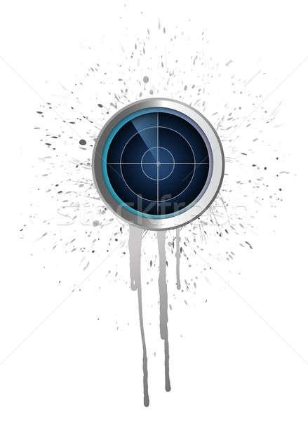 Radar atramentu ilustracja projektu biały Internetu Zdjęcia stock © alexmillos