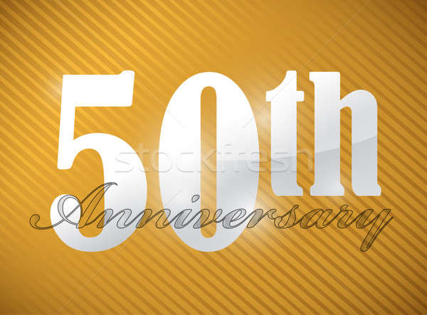 50th anniversary Silver Character Collection illustration design Stock photo © alexmillos