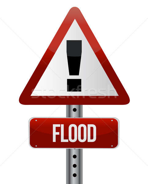 Inondations illustration design blanche nature Photo stock © alexmillos