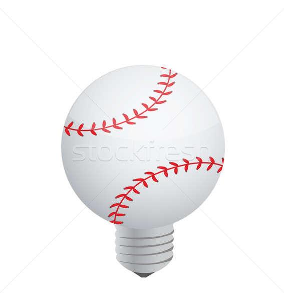Lightbulb Baseball ball Stock photo © alexmillos
