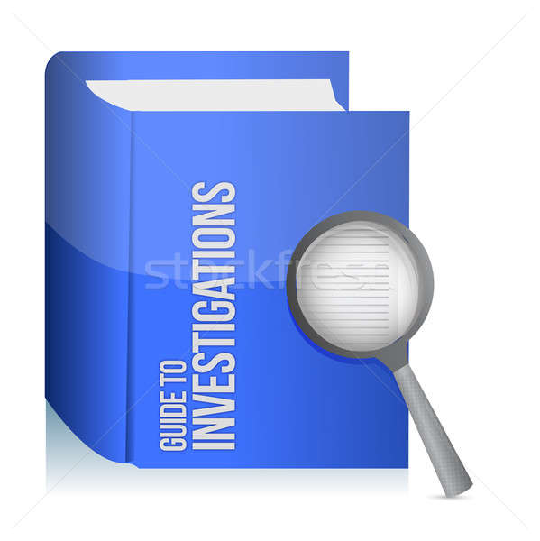 Guide to investigations book and magnify glass  Stock photo © alexmillos