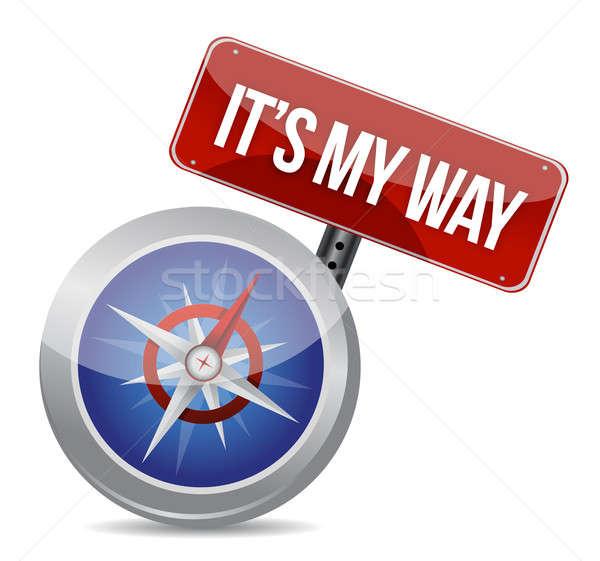My way compass concept  Stock photo © alexmillos