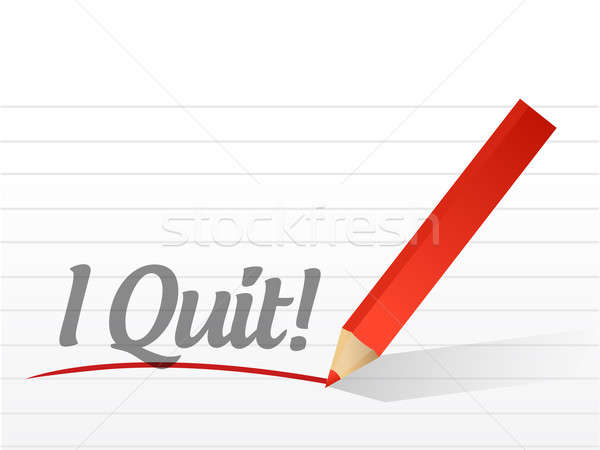 I quit written on a white paper Stock photo © alexmillos