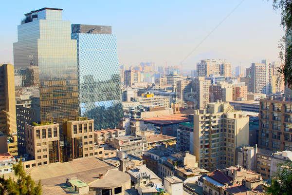 スカイライン 表示 サンティアゴ チリ 金融街 市 ストックフォト © alexmillos