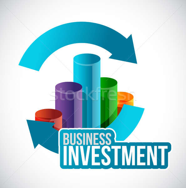 Business investment cycle graph concept Stock photo © alexmillos
