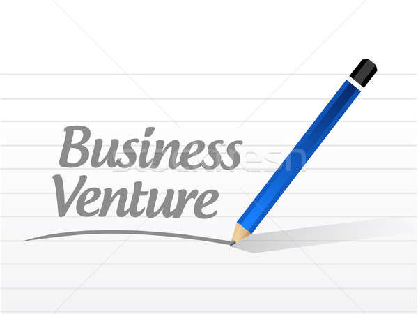 business venture message sign concept Stock photo © alexmillos