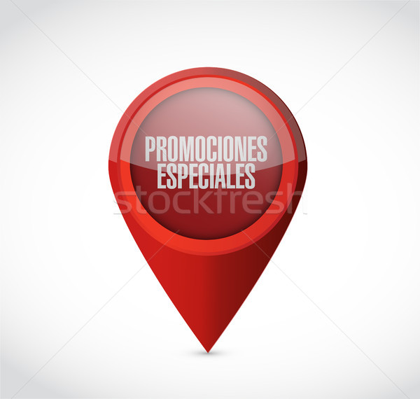 special promotions in Spanish locator sign concept Stock photo © alexmillos