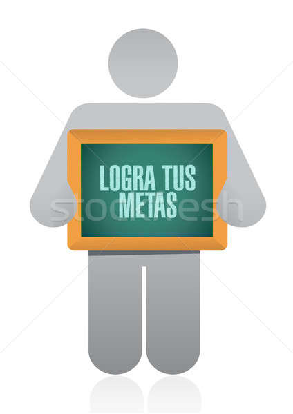 achieve your goals avatar sign in Spanish. Stock photo © alexmillos