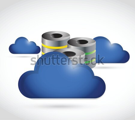 cloud computing issues under construction sign Stock photo © alexmillos