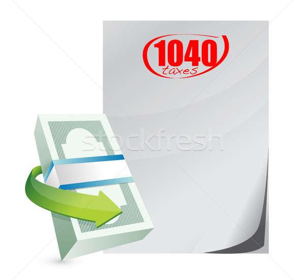 денежный иллюстрация дизайна белый бумаги Сток-фото © alexmillos