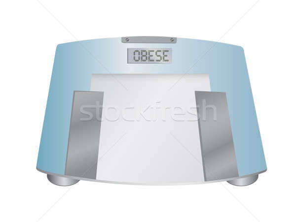 The word Obese on a weight scale, illustration Stock photo © alexmillos