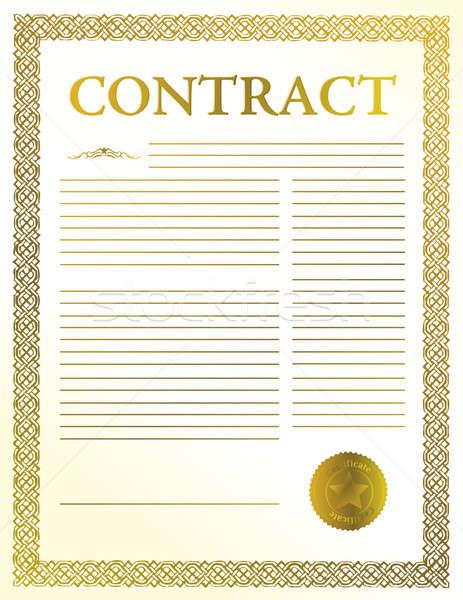 contract document  Stock photo © alexmillos