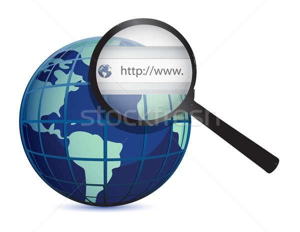 Terra globo world wide web isolado branco computador Foto stock © alexmillos