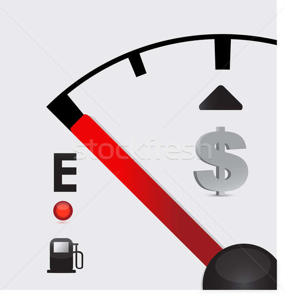 dollar sign Gas tank almost empty - illustration design Stock photo © alexmillos