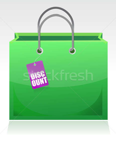 Shopping bag with a discount tag illustration design isolated ov Stock photo © alexmillos