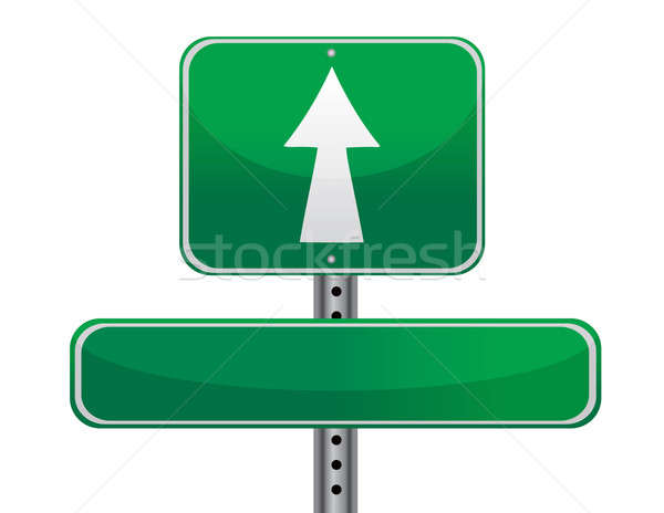 street sign concept, empty to be personalized with your own word Stock photo © alexmillos