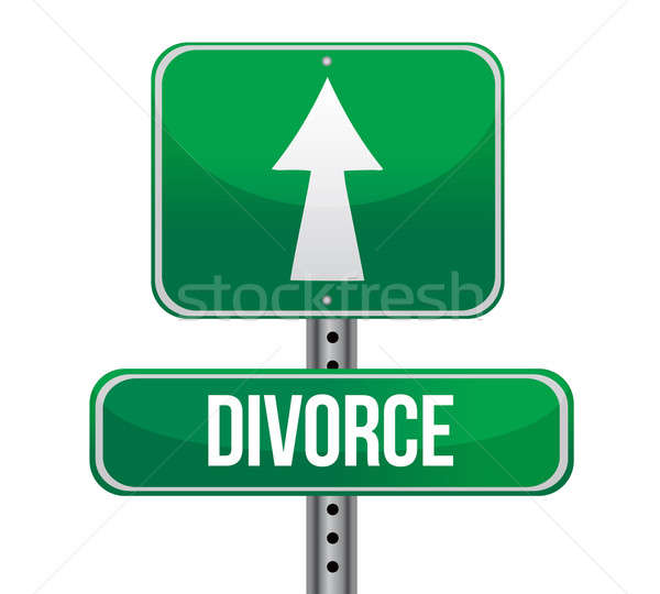 divorce sign illustration design over a white background Stock photo © alexmillos